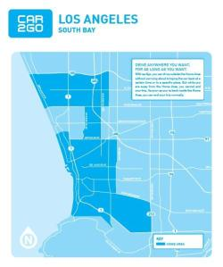 map of Car2go's home area